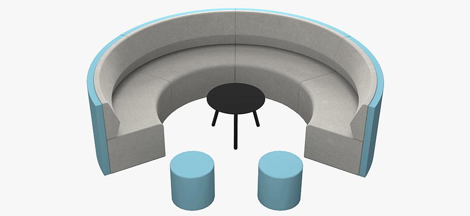 CHARLA round sofa